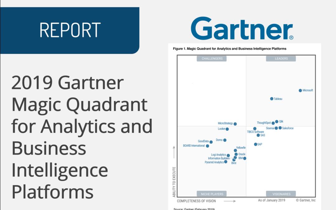 2019 Gartner Magic Quadrant for Analytics and Business Intelligence Platforms