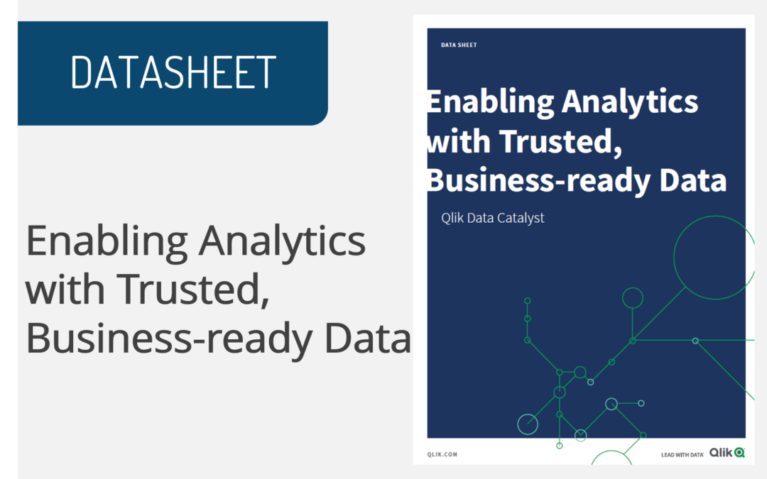 Enabling Analytics with Trusted, Business-ready Data