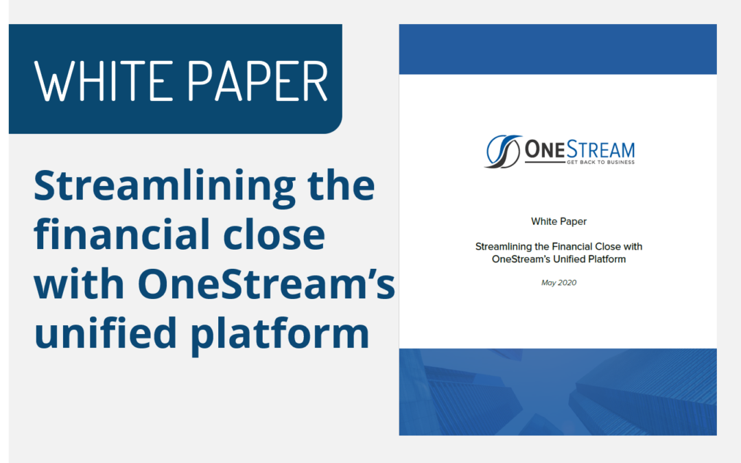 Streamlining the Financial Close with OneStream's Unified Platform