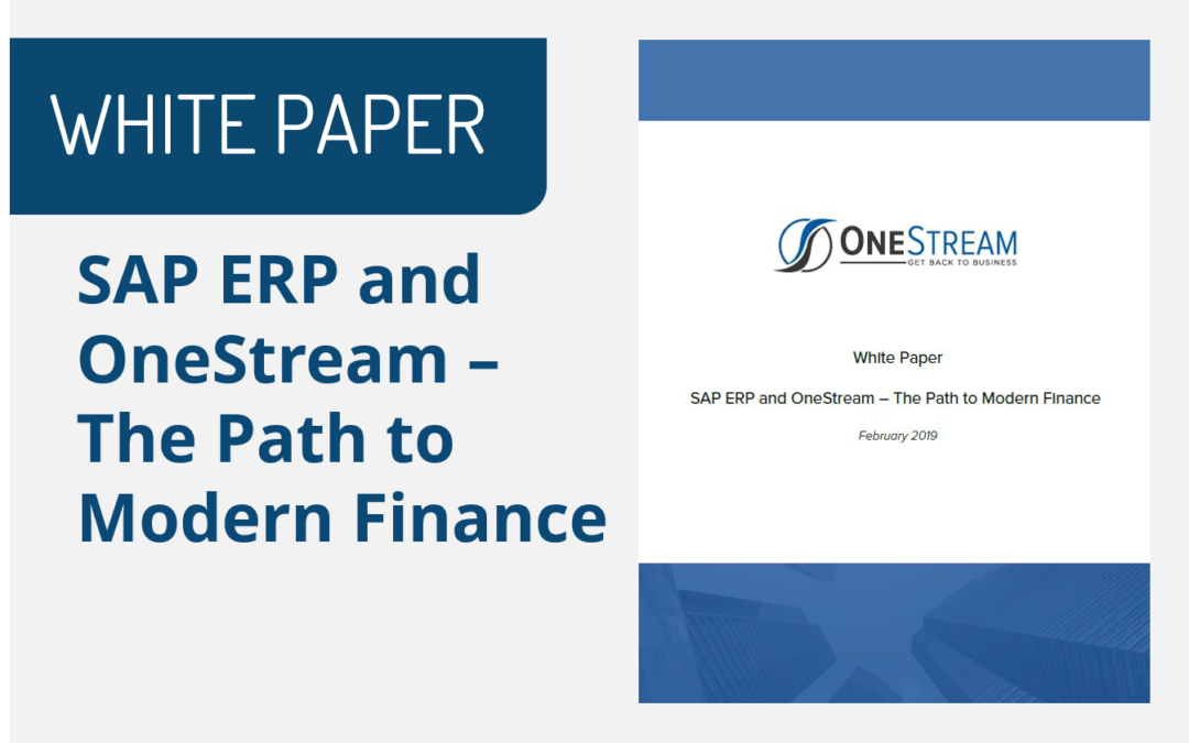 SAP ERP and OneStream – The Path to Modern Finance