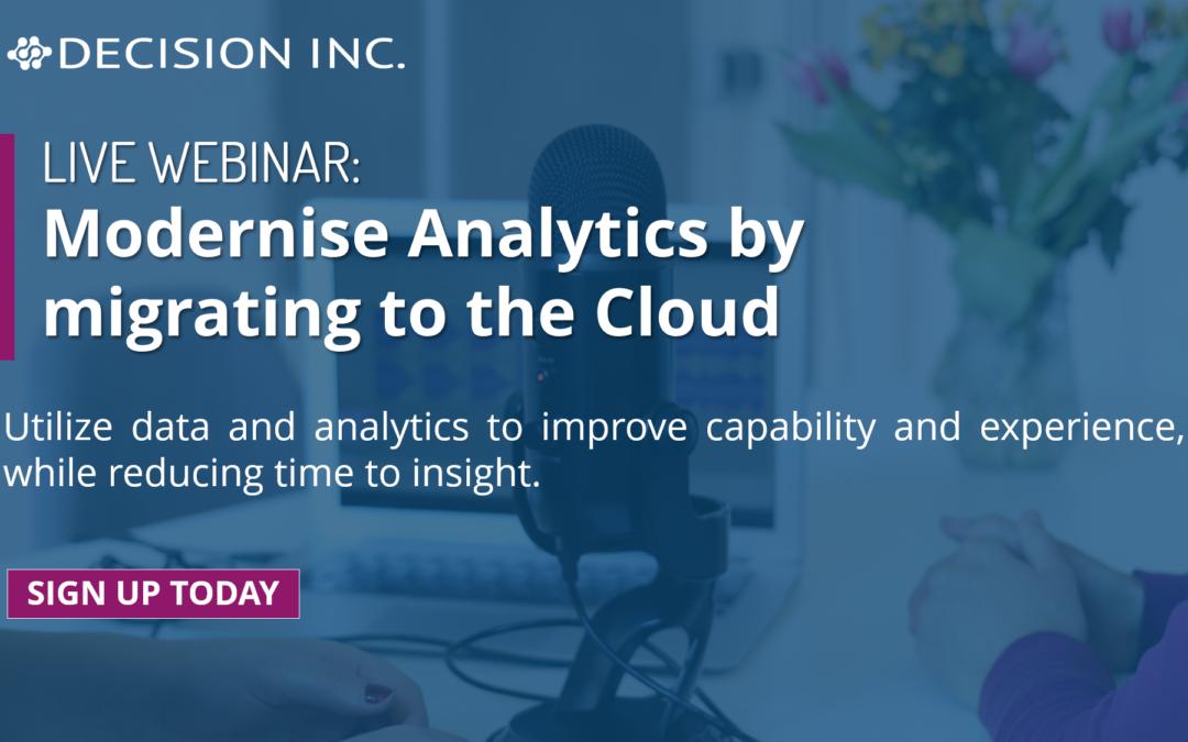 Webinar: Modernising Analytics by migrating Azure Cloud