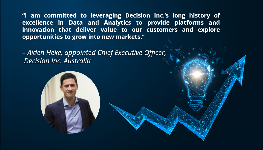 New Chief Executive Officer of Decision Inc. Australia