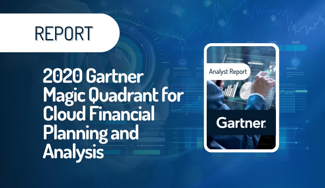 2020 Gartner Magic Quadrant for Cloud Financial Planning and Analysis