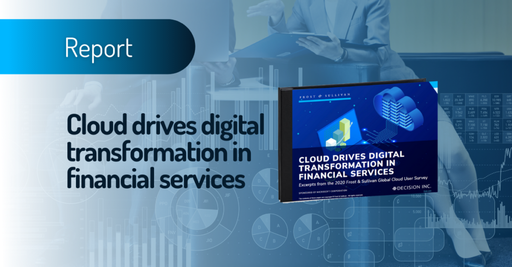Cloud drives digital transformation in financial services